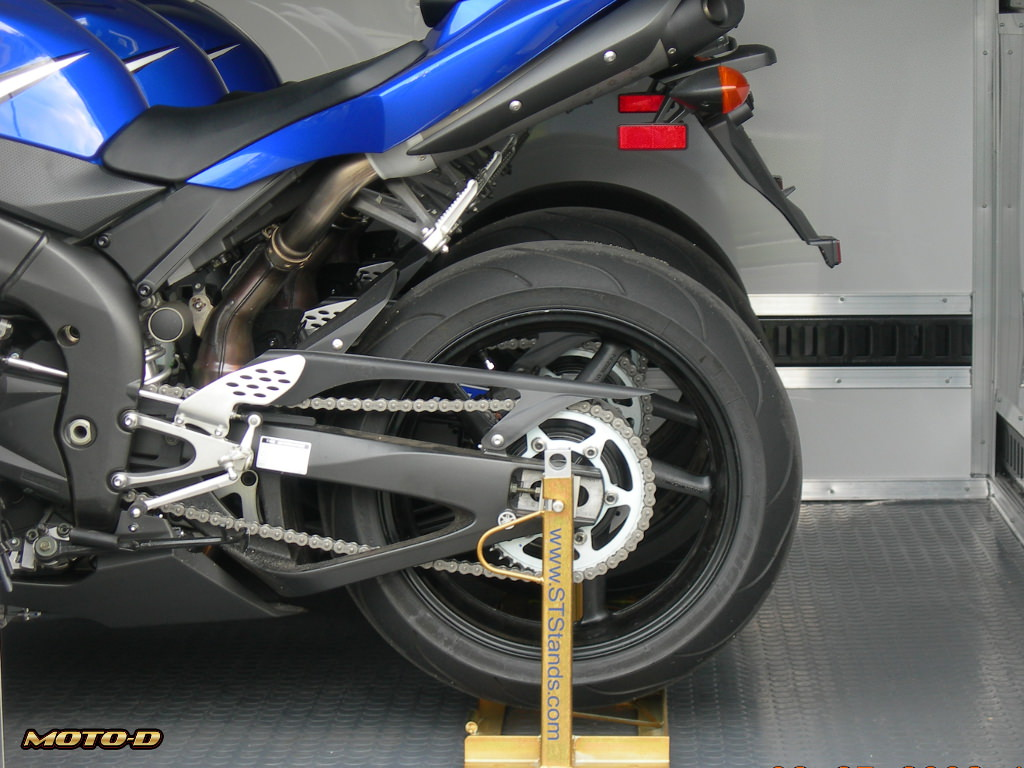 Strapless Transport Stands Rear Wheel Motorcycle Chocks
