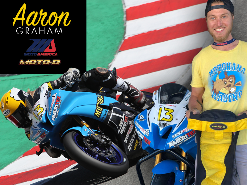 Motohana Racing Aaron Graham loves his MOTO-D tire warmers