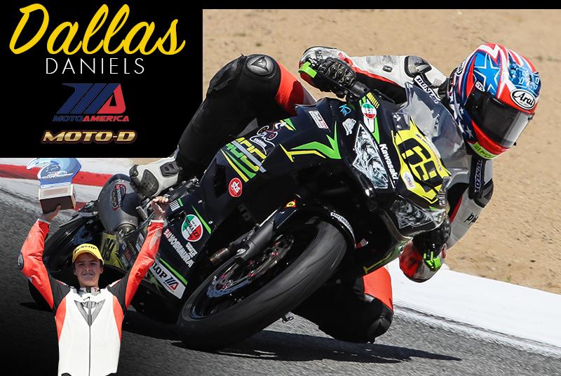 Jay Newton in MotoAmerica Junior Cup Kawasaki Ninja 400 on MOTO-D Tire Warmers