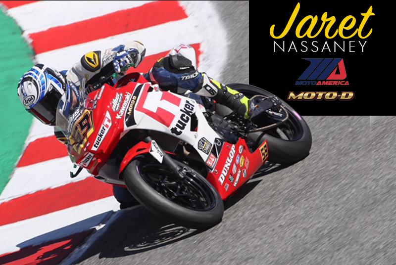 Jaret Nassaney MotoAmerica Kawasaki Ninja 400 outfitted with Bonamici Rearsets