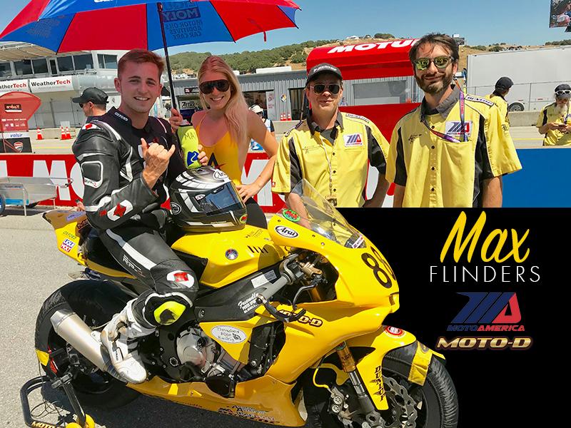Max Flinders Yamaha R1 Spark Full Titanium Exhaust at MotoAmerica Laguna Seca