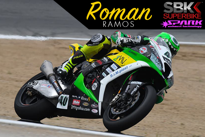 Romas Ramos riders his Spark Exhaust powered Kawasaki ZX-6R