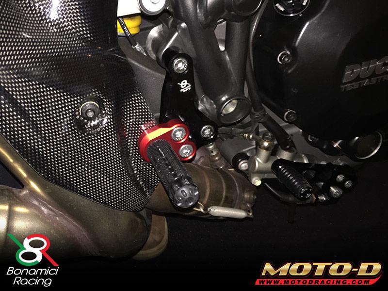 Bonamici Ducati Streetfighter Rearsets - Adjustable, Billet for 848