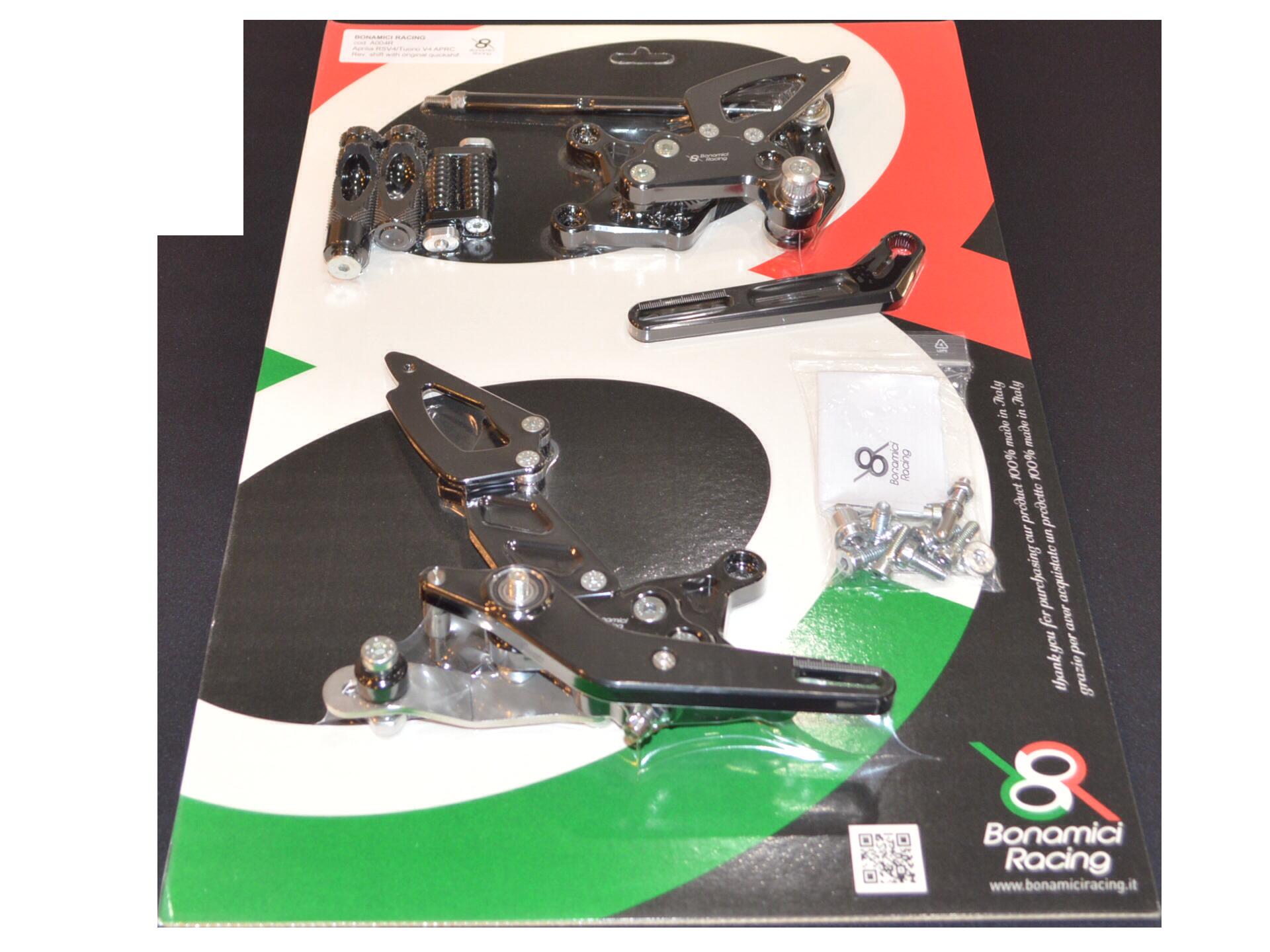 Bonamici Aprilia RSV4 & Tuono V4 Rearsets with APRC