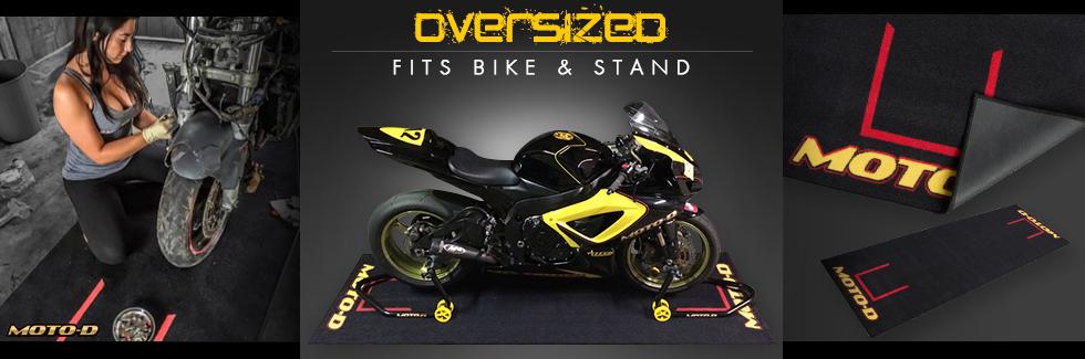 moto-d large motorcycle track mat
