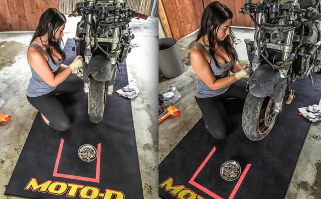 Motorcycle Garage Mats Paddock Carpets Track Workshop