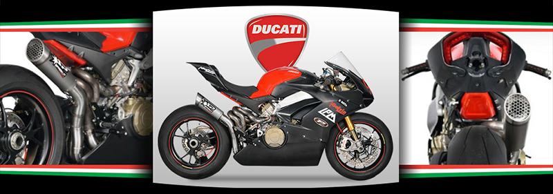 Spark Ducati Panigale V4 Titanium Grid Semi-Full Exhaust System