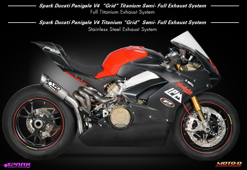 Spark Ducati Panigale V4 Grid Titanium Semi-Full Exhaust System