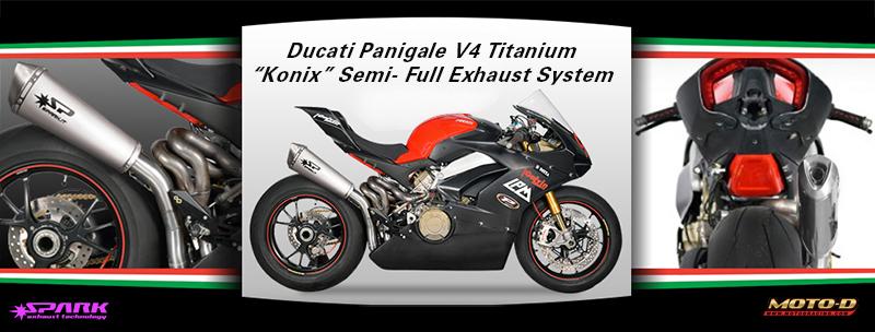 Spark Ducati Panigale V4 Titanium Konix Semi-Full Exhaust System