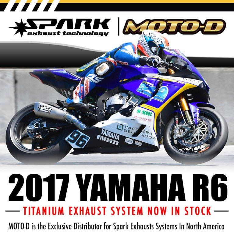 Learn More About Spark Yamaha R6 2017 Slip On Full Exhausts Click Here