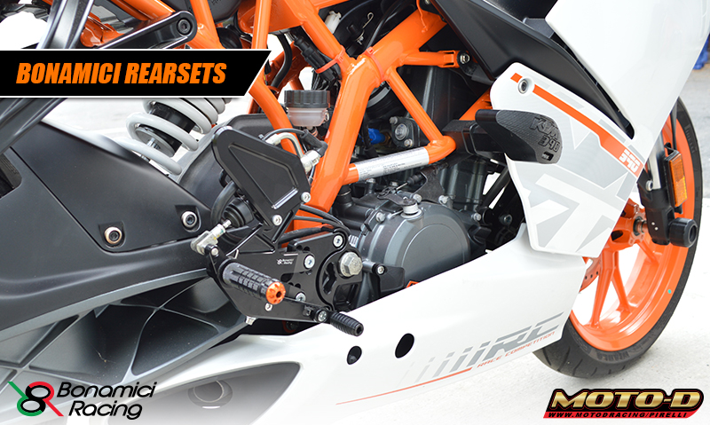 ktm rc390 rearsets are light and strong
