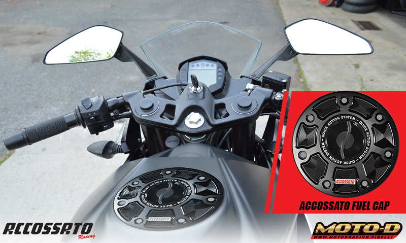 accossato quick turn fuel caps for motorcycles